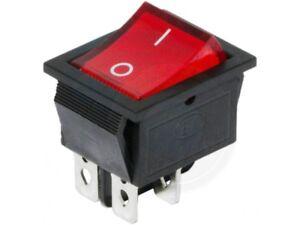 4 Pin Car Boat Rectangle Rocker Switch ON OFF Red Light AC 16A//250V 20A//125V
