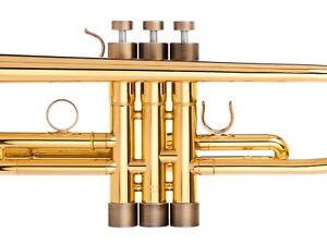 Yamaha-Trumpet-Trim-Kit-HEAVY-Caps-KGUBrass-Antique-Bronze-Lacquer-TKHB102