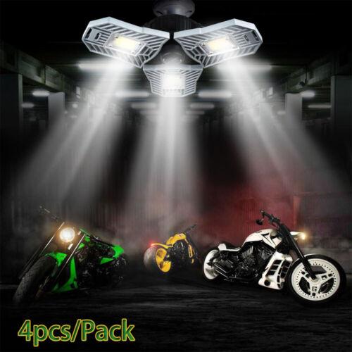 4 X High Intensity E27 60W 6000LM Led Deformable Lamp Garage light AC 85-265V