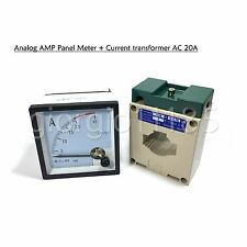 Us Stock Ac 0 20a Analog Amp Current Panel Meter Ammeter Amp Current Transformer