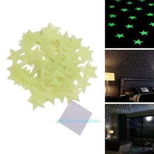 100pcs-Light-Green-Luminous-Star-Stickers-Home-Wall-Decals-Kids-Bedroom-Decor