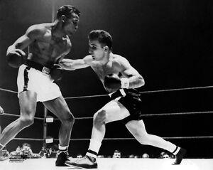 Sugar Ray Robinson Glossy 8 x 10 Color Boxing Fight Photograph