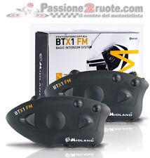 Midland Btx1 par intercomunicador bluetooth 2 cascos piloto pasajero intercom