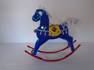 Vintage Hand Crafted Silk Bobble Rocking Horse