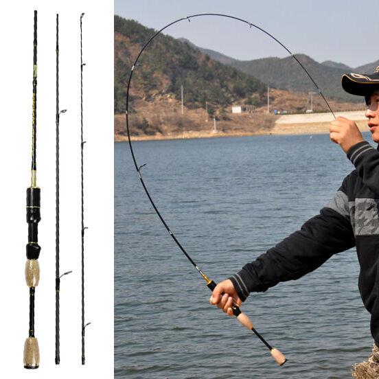 Spinning Fishing Rod Travel Portable Carbon Fiber Pole Ultra Light Reel Rods