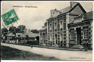 C11687-Une-Carte-Postale-Ancienne-CONTEVILLE-Groupe-Scolaire