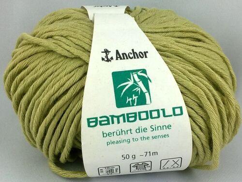 vegan Bamboolo 100g=5,90€ 30/% Baumwolle stricken Anchor 70/% Bambus Garn