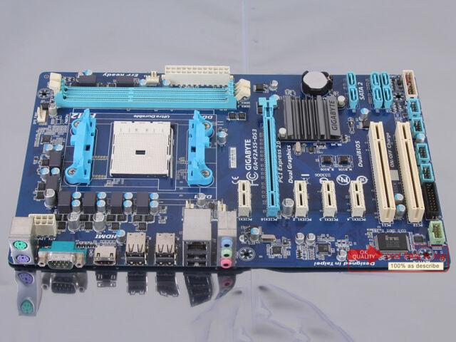 100% tested Gigabyte GA-F2A55-DS3 Motherboard Socket FM2 DDR3 AMD A55