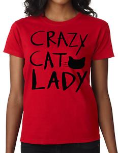 t shirt  Womens  Crazy Cat Lady Ladies Fit T-Shirt birthday gift funny joke