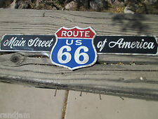 ROUTE US 66 ROADWAY HIGHWAY Red White Blue Main Street Of America Get your kicks