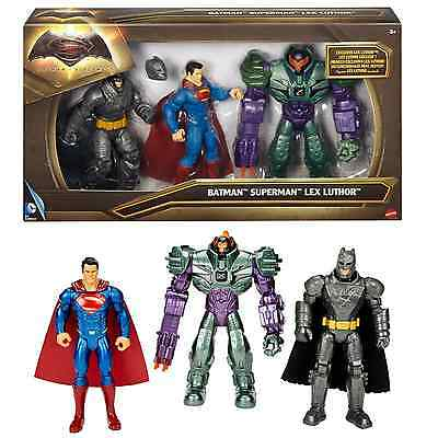 Batman V Superman Dawn Of Justice Lex Luthor Figure 3-Pack Toy Game Kids Play