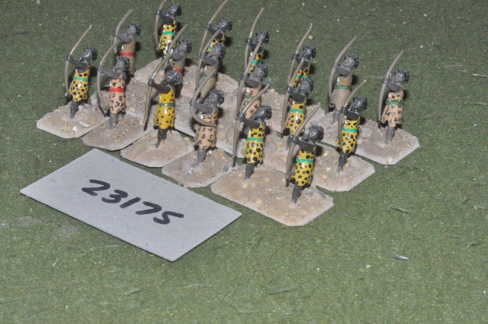 25mm biblical   egyptian - nubian archers 18 figures - inf (23175)