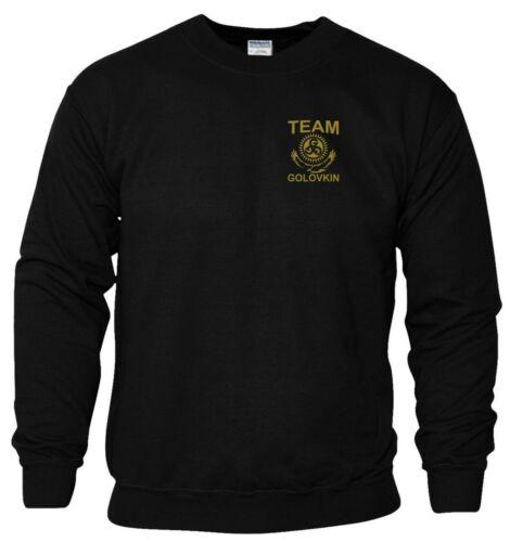 Team Golovkin GGG Sweatshirt Pocket Boxing MMA UFC Gym Workout Men Jumper Top