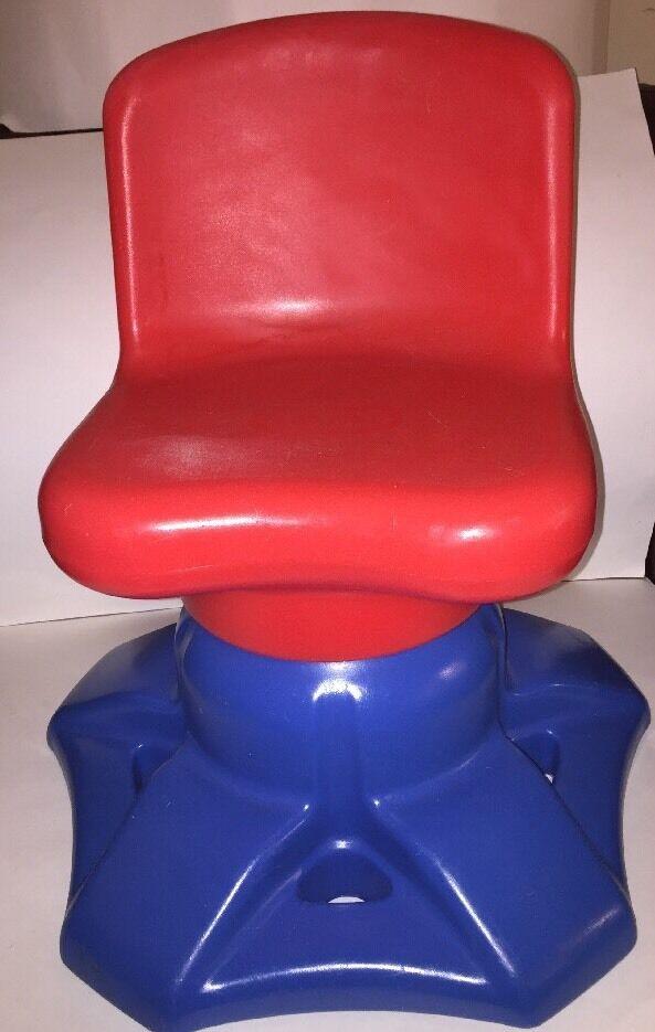 Oldtimer - wenig tikes kunst schreibtisch drehstuhl rot Blau boys & girls