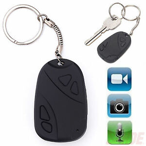 Mini Digital Hidden Audio Video Recorder HD Camcorder Camera Car Key Chain Fob W