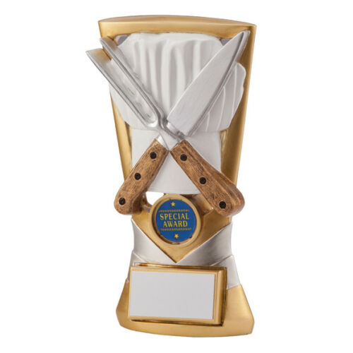 COOKING CATERING CHEF COME DINE WITH ME BAKE OFF FOOD TROPHY 18.5cm RF2079A TSA