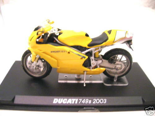 Ixo Altaya ducati 749s 749 s año 2003 amarillo Yellow moto 1:24
