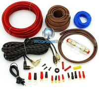 Focal Pk8 8 Gauge Performance Complete Car Power Amplifier Wiring Install Kit on sale
