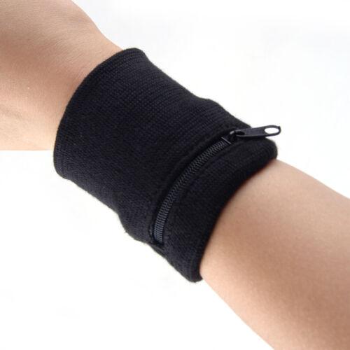 Schweißband mit Reißverschluss Tasche für Joggen Squash Badminton Laufen