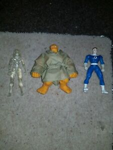3 Fantastic four Action Figures Mr Fantastic The Thing Invisible girl