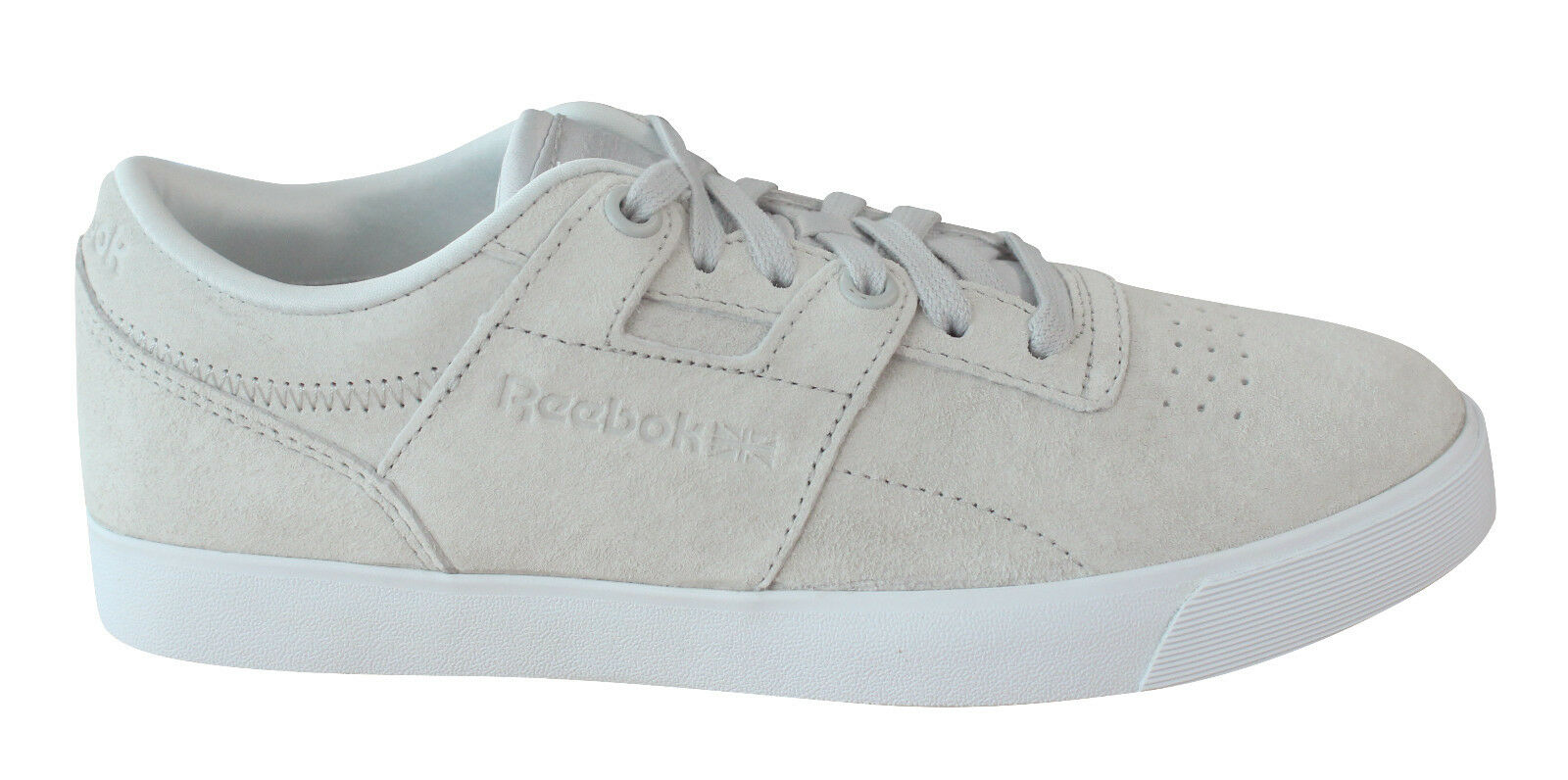 Reebok Workout Clean FVS FBT Womens Trainers Lace Up Skull Grey BS6148 U83