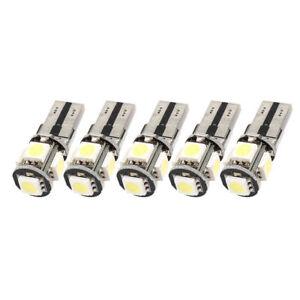 10PCS-Libre-de-Error-Canbus-W5W-T10-5050-5-SMD-LED-Blanco-Luz-Bulbo-Lampara-H4P4