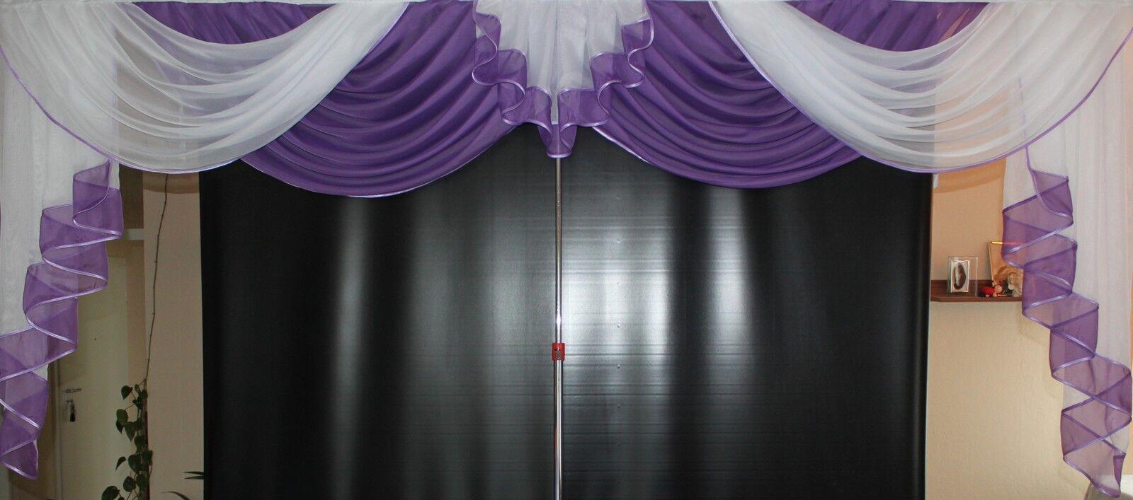 Deko - Gardine, Store, Vorhang in der Farbe Farbe Farbe lila   weiss | Langfristiger Ruf  aaef45