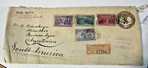 1896Busta Postal Colombo Cents 10 + Fr.bolli 4+6+8+15 - RR