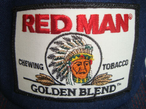 Vintage Red Man Snapback Cap Denim VERY RARE