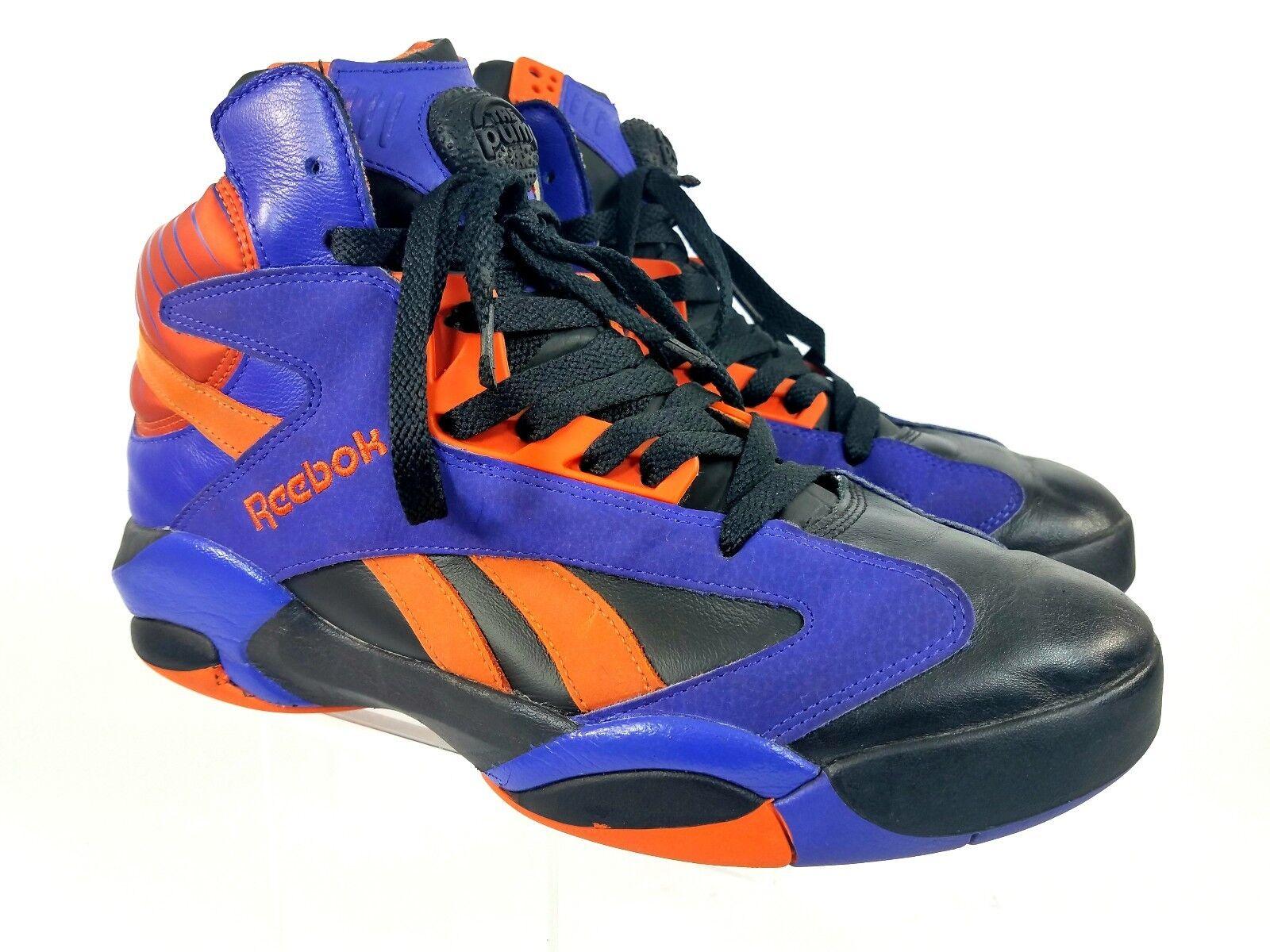 Reebok Shaq Attaq Big Shaqtus Phoenix Suns The Pump Purple Orange Uomo Sz 10 GUC