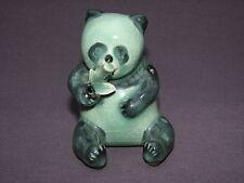Korean Green Crackle Celadon Porcelain Panda Bear Suiteki Water Dropper Figurine