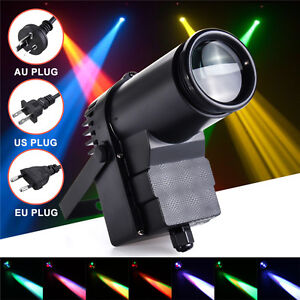 30W-RGBW-LED-Stage-Lighting-DMX512-Pinspot-Beam-Spotlight-6CH-DJ-DISCO-Party-KTV