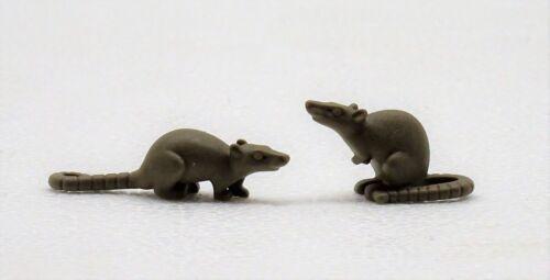 2 RATTEN PLAYMOBIL zu Ratte Ritter Piraten Tiere Western Bauernhof Zoo Rats 1960