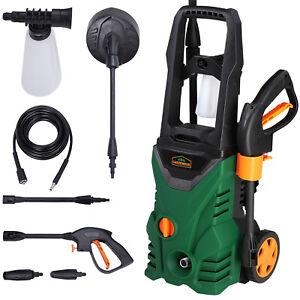 Nettoyeur haute pression vert-noir 105 bar 1400 W avec accessoires chariot
