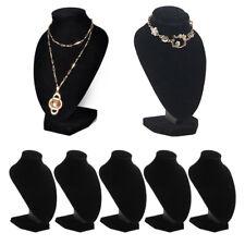 5 Packs Black Velvet Necklace Bust Display Stands Jewelry Figure Holder