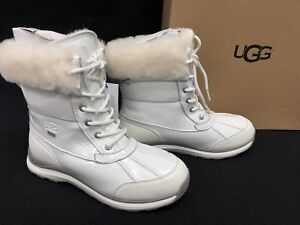 3fe59ccaad2 Details about UGG Australia Adirondack III Patent Waterproof Leather Snow  Boot 1098532 White