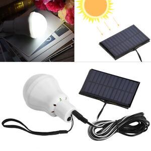 3W-Luce-LED-Lampada-Solare-con-Pannello-Ricaricabile-Esterno-Per-Campeggio