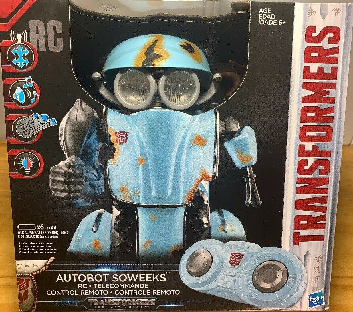 Transformers The Last Knight Rc Autobot Sqweeks Hasbro Ages 6+ Remote Control