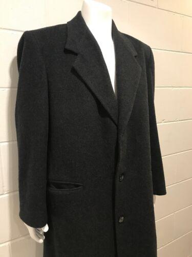 VIRANY Vintage Long Wool Overcoat Mens 44 Size L D