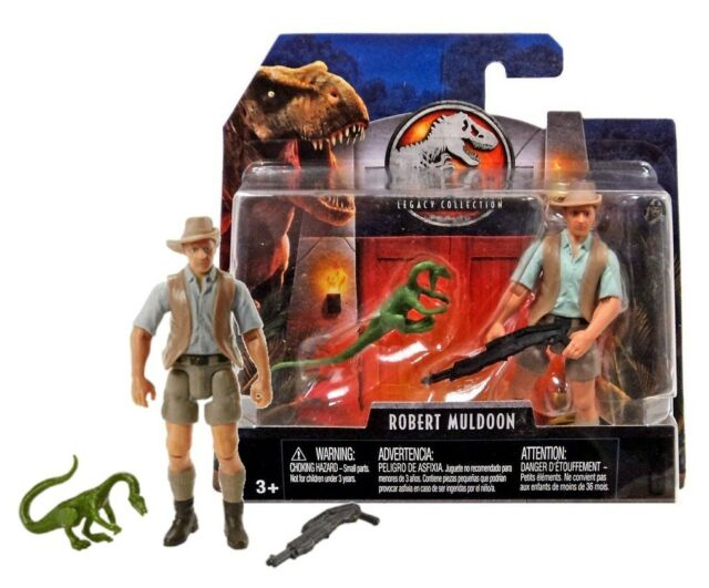 Jurassic World Legacy Collection Robert Muldoon /& Compy Dinosaur New in Package