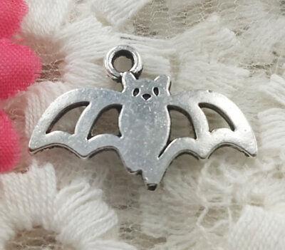 Free Ship 200 Pcs Tibetan Silver Bat Charms 24x15mm #3847