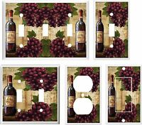 Wine And Grape Bottle Light Switch Cover Plate K 11 U Pick Plate Size