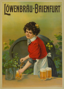 LOWENBRAU Germany BAIENFURT Reproduction Vintage Beer Alcohol Poster