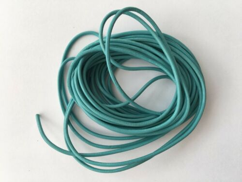 BEADING CRAFTS 5 YARDS 2 mm ROUND REAL LEATHER CORD FOR HATS