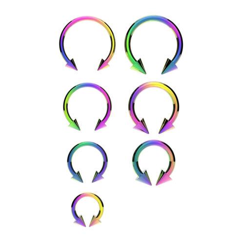 Horseshoe Bar Circular Barbell Lip Nose Septum Ear Ring Various Sizes /& Colours