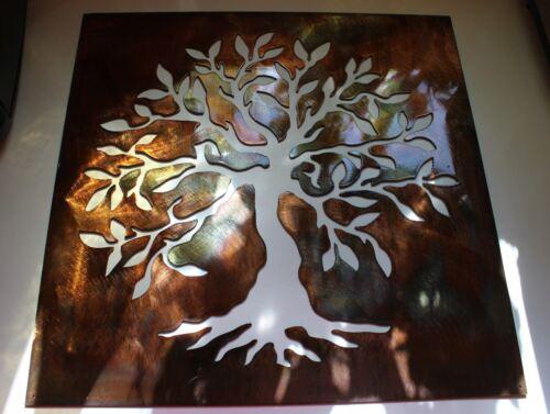 "Olive Tree Panel  24/"" -Tree of Live Metal Wall Art Decor"
