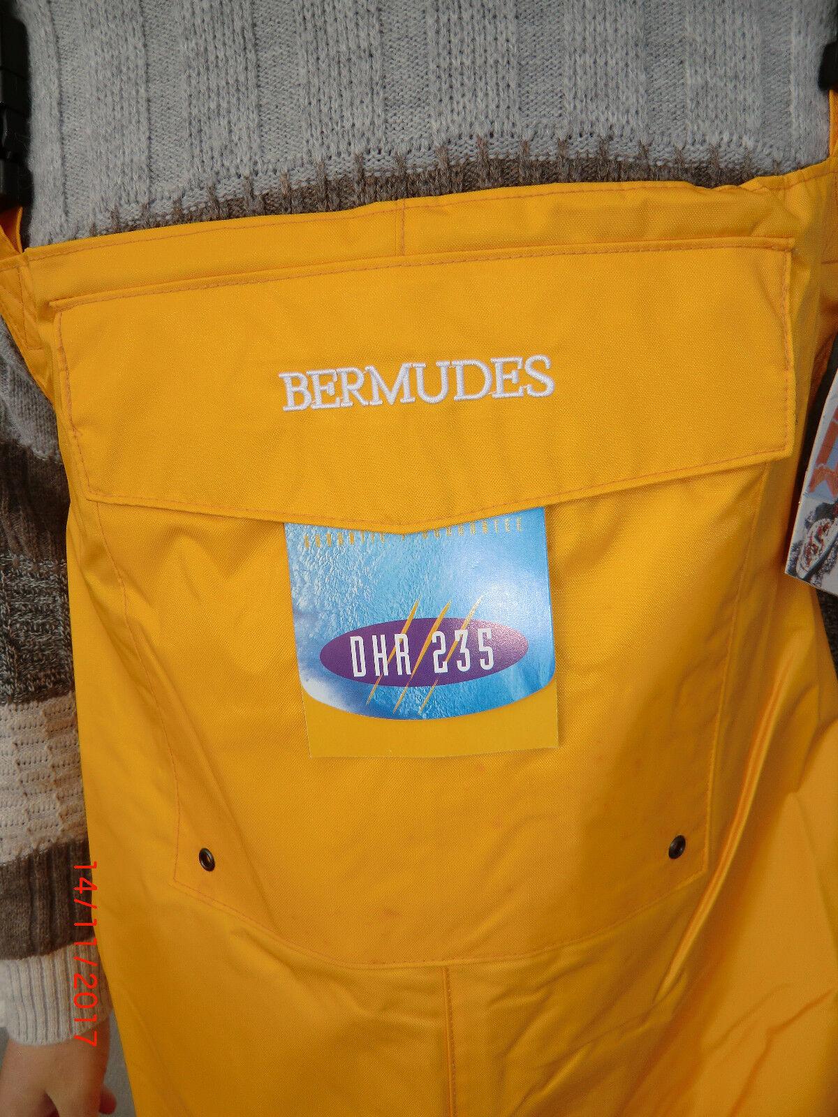 Bermudes Ölzeug Ölzeug Bermudes Hose Regenhose Segelhose Gelb 1a0540