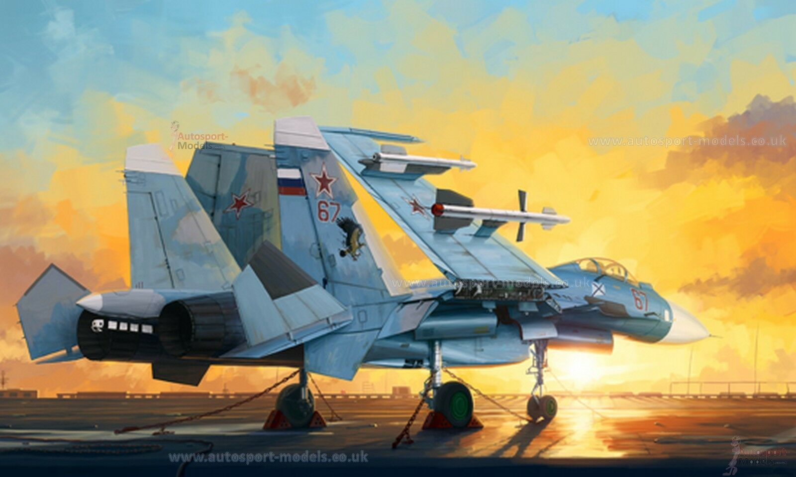 1 72 Russian Sukhoi-33 Flanker D model kit by Trumpeter  TM01678