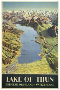 Lake-of-Thun-Switzerland-Vintage-Travel-Art-Print-Poster-24x36-inch