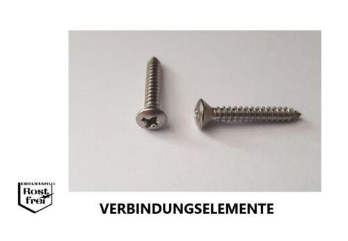 Blechschrauben mit Linsensenkkopf DIN 7983 H EDELSTAHL A2 Ø 2,2-4,2 V2A
